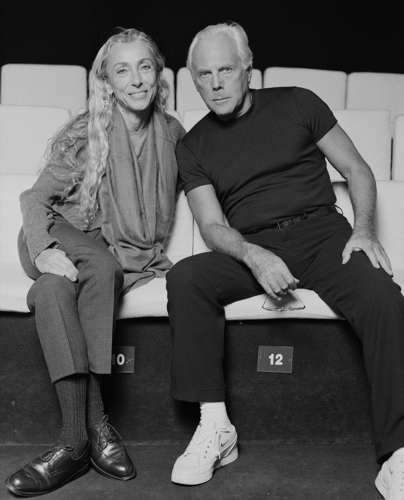 Franca Sozzani together with Giorgio Armani
